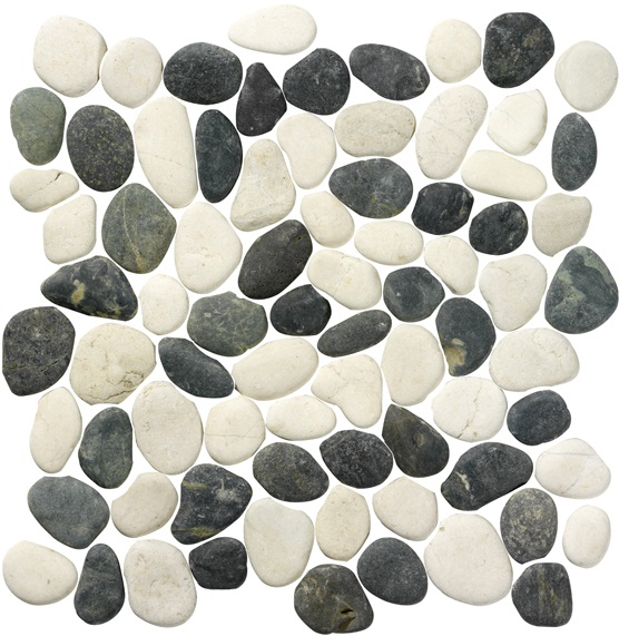 PEBBLES WHITE-ANTRACITE 30X30-170